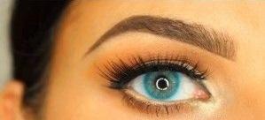 لنز رنگی آبی لومینوس