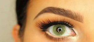 لنز رنگی لومینوس عسلی سبز