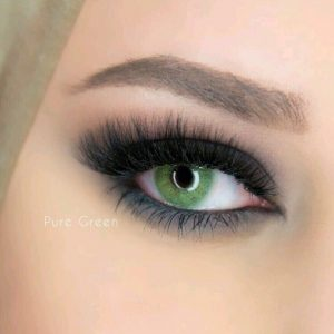 لنز تماسی لازورد سبز روشن بدون دور خط
