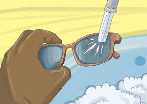 شستن عینک