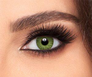 لنز رنگی جواهری زمرد سبز