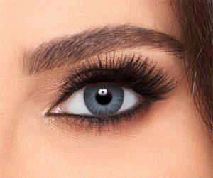 لنز رنگی طوسی خاکستری نقره ای