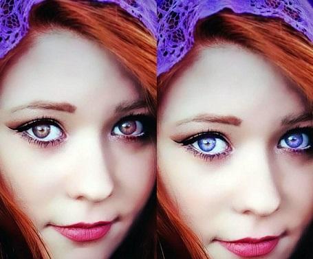 لنز چشم برای پوست روشن و پوست سفید