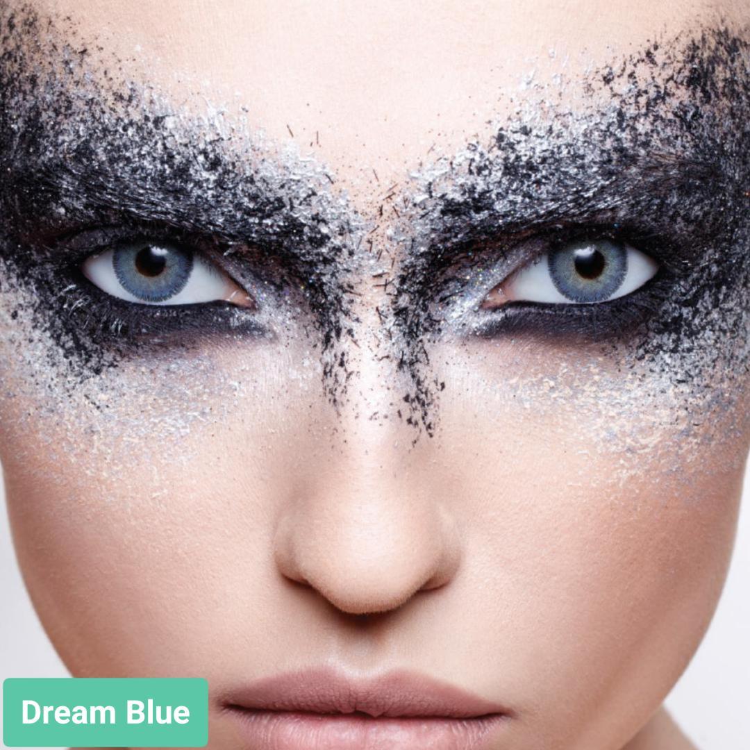 فروش لنزDream Blue (آبی دوردار)  برند آنستازیا بهمراه قیمت امروز لنز رنگی  و قیمت امروز لنز طبی