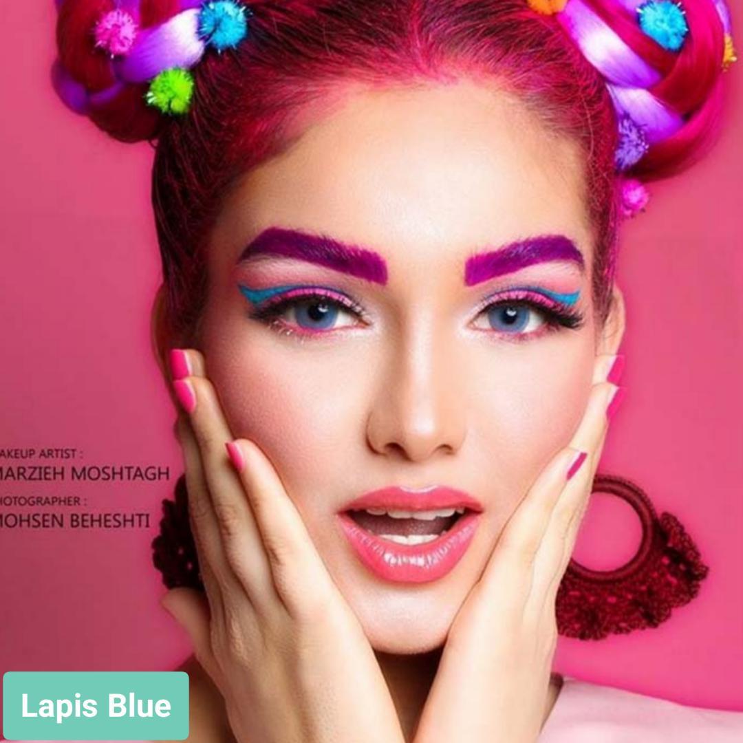 فروش لنز Lapis Blue (آبی دورمحو)  برند لولیتا بهمراه قیمت امروز لنز رنگی  و قیمت امروز لنز طبی