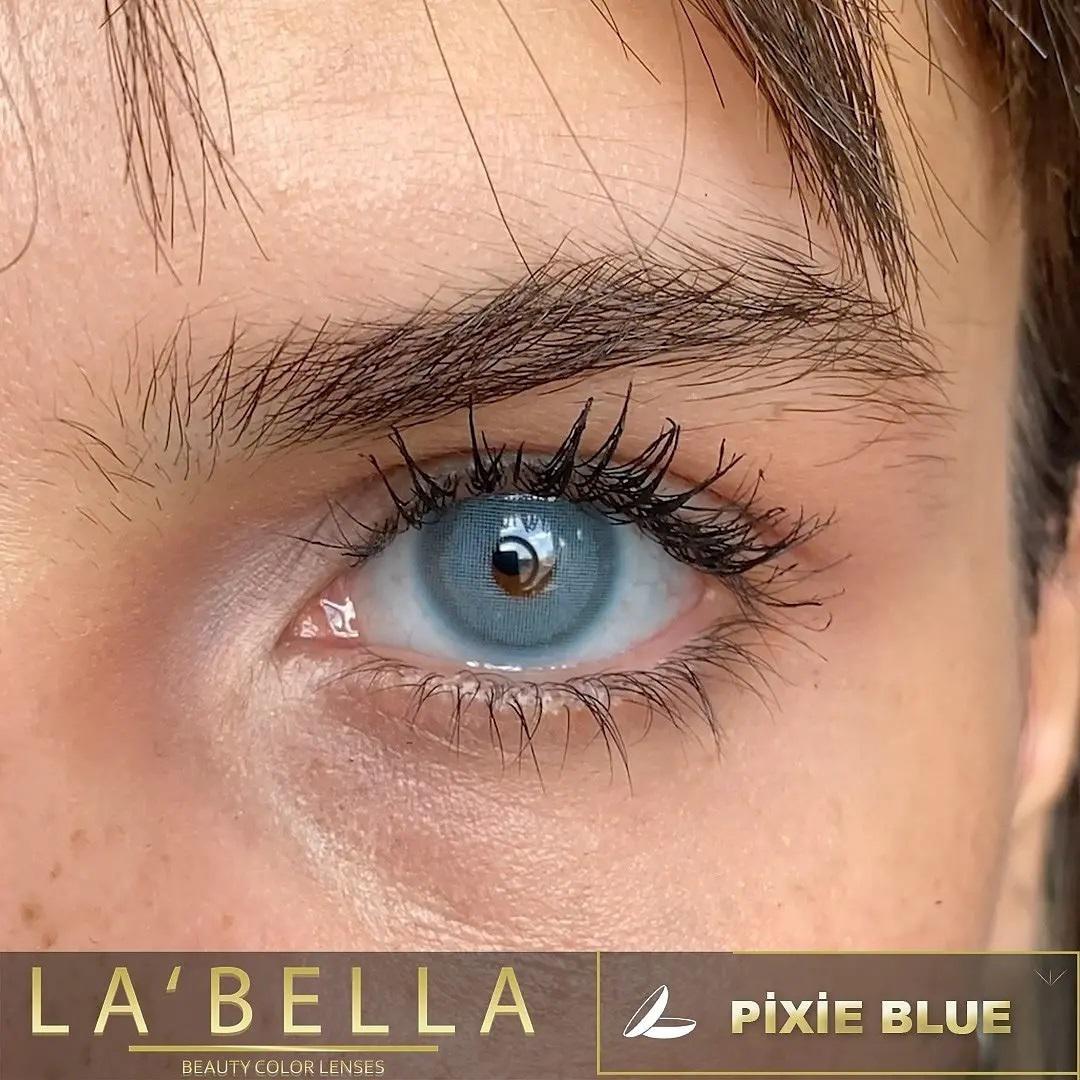 فروش لنزPixie Blue (آبی تیله ای دورمحو)  برند لابلا  بهمراه قیمت امروز لنز رنگی  و قیمت امروز لنز طبی