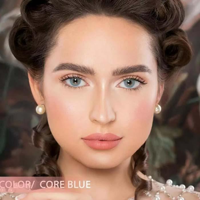 فروش لنز Core Blue (آبی اقیانوسی بدون دور)  برند نچرال بهمراه قیمت امروز لنز رنگی  و قیمت امروز لنز طبی