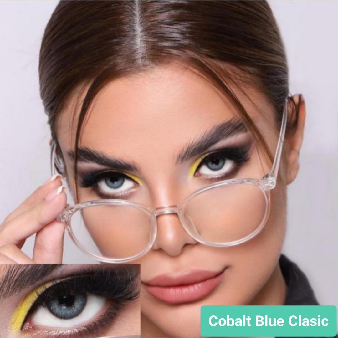 فروش لنز Cobalt Blue Classic (آبی اقیانوسی دوردار)  برند جمستون لاکچری  بهمراه قیمت امروز لنز رنگی و قیمت امروز لنز طبی