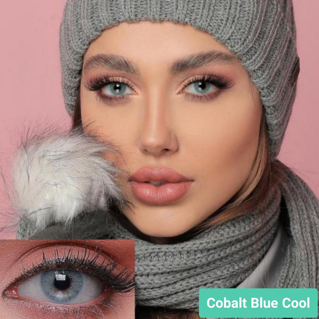 فروش لنز Cobalt Blue Cool (آبی اقیانوسی بدون دور)  برند جمستون لاکچری  بهمراه قیمت امروز لنز رنگی و قیمت امروز لنز طبی