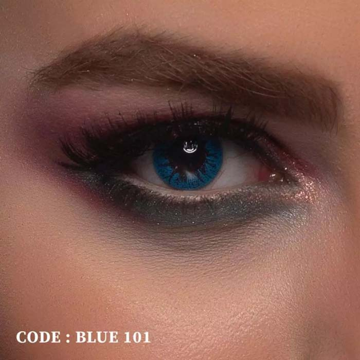 فروش Blue 101 (آبی بدون دور)  بهمراه قیمت امروز لنز طبی و قیمت امروز لنز رنگی