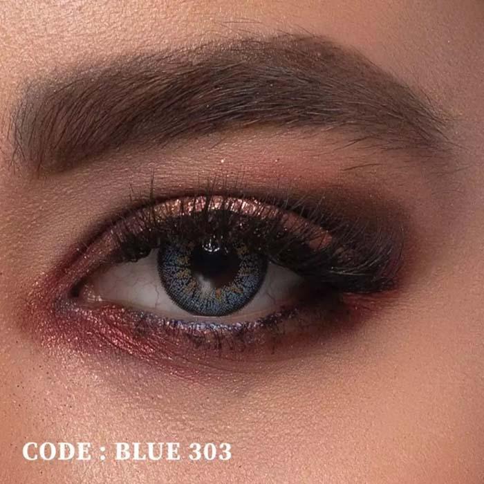 فروش  Blue 303 (آبی عسلی)   بهمراه قیمت امروز لنز طبی و قیمت امروز لنز رنگی