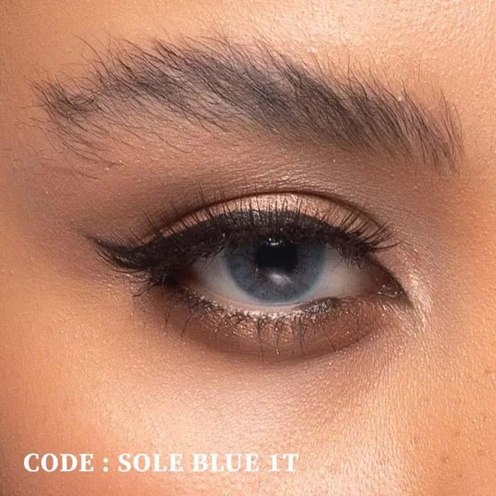 فروش لنز Sole Blue T1 (آبی بدون دور)   بهمراه قیمت امروز لنز طبی و قیمت امروز لنز رنگی