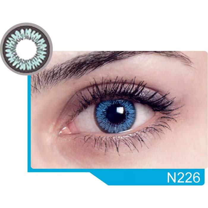 فروش لنز N 226 (آبی دوردار)  بهمراه قیمت امروز لنز رنگی  و قیمت امروز لنز طبی