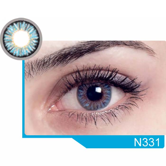 فروش لنز N 331 (آبی عسلی)   بهمراه قیمت امروز لنز رنگی  و قیمت امروز لنز طبی