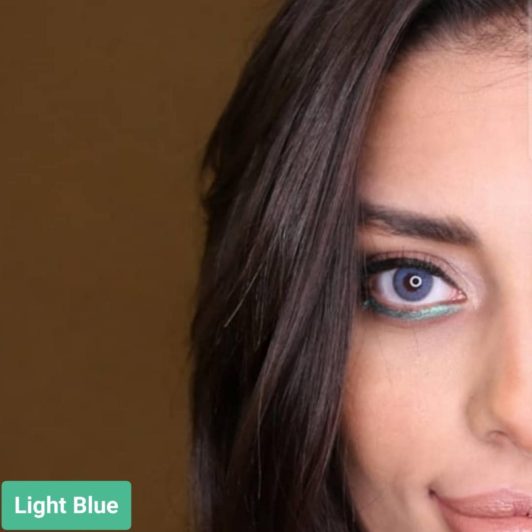 فروش لنز Light Blue (سورمه ای)  برند سولکو رنگی بهمراه قیمت امروز لنز رنگی و قیمت امروز لنز طبی
