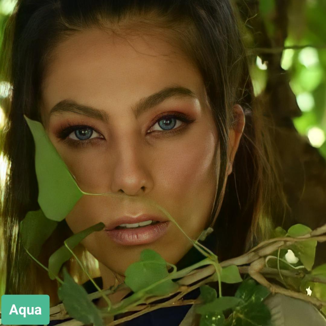 فروش لنز Aqua (آبی)  برند سولکو رنگی بهمراه قیمت امروز لنز رنگی و قیمت امروز لنز طبی