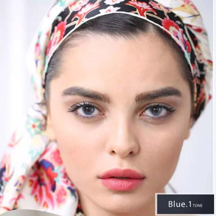 فروش Blue T1 (آبی بدون دور)   بهمراه قیمت امروز لنز طبی و قیمت امروز لنز رنگی