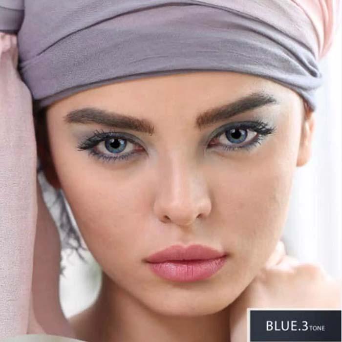 فروش Blue T3 (آبی عسلی)  بهمراه قیمت امروز لنز طبی و قیمت امروز لنز رنگی