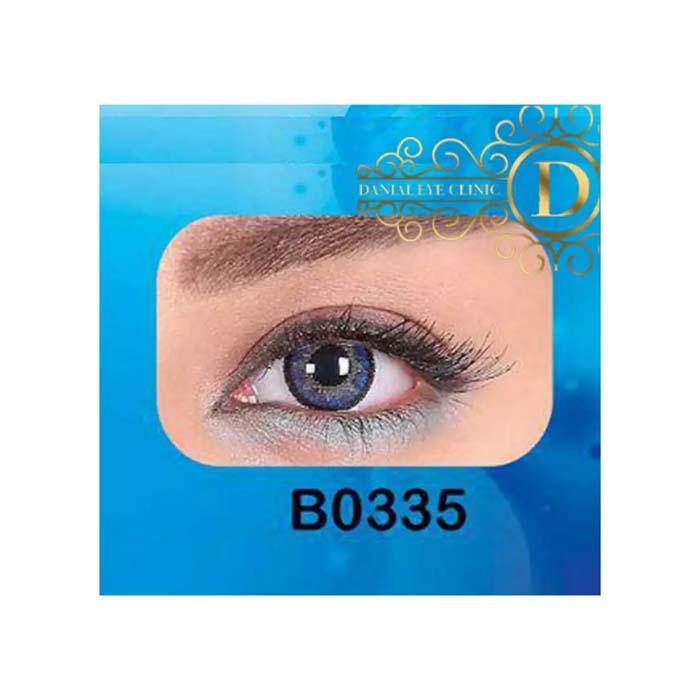 فروش لنز B0335 (آبی عسلی)   بهمراه قیمت امروز لنز طبی و قیمت امروز لنز رنگی