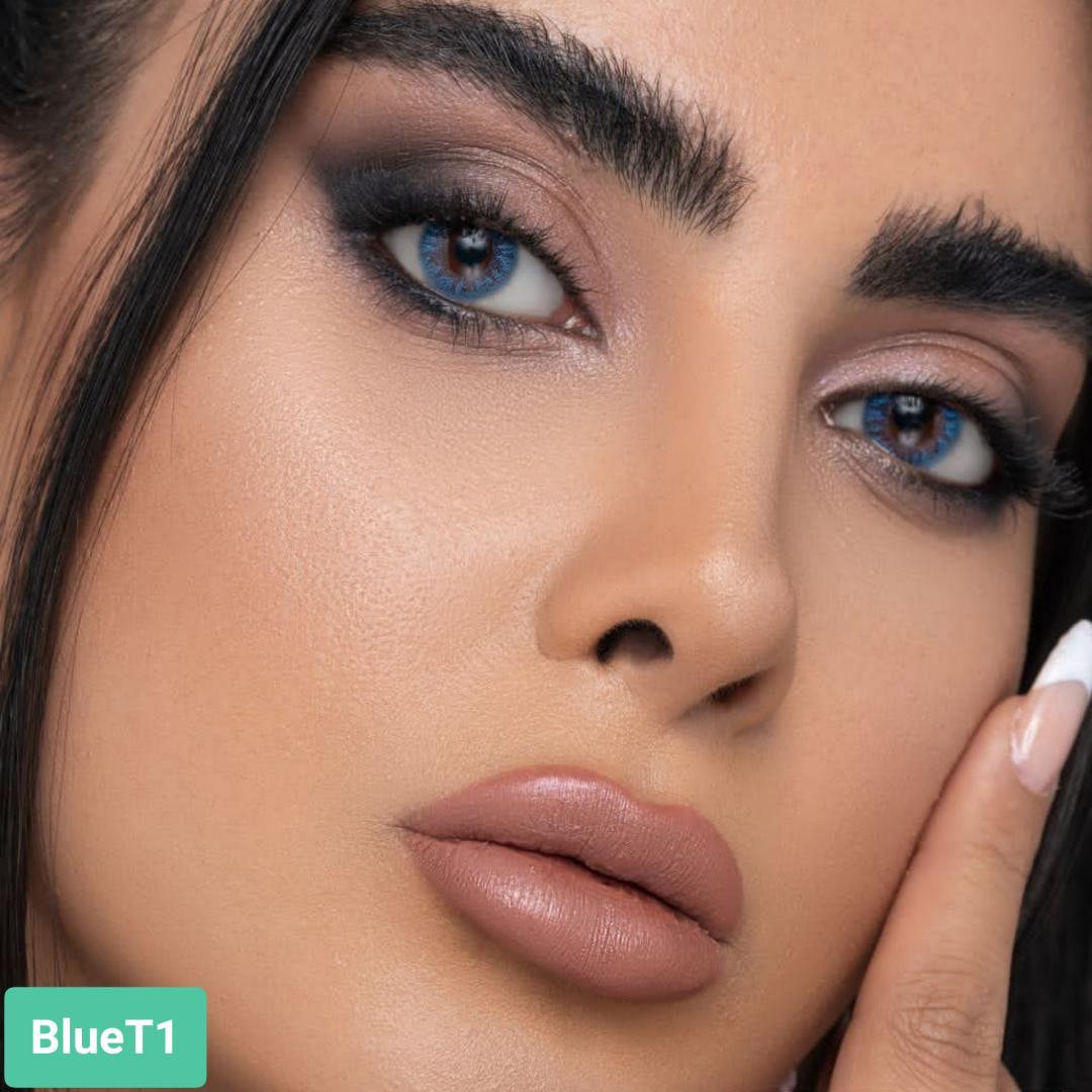 فروش لنز Blue T1 (آبی بدون دور)   بهمراه قیمت امروز لنز طبی و قیمت امروز لنز رنگی