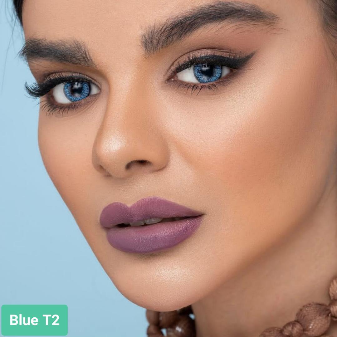 فروش لنز Blue T2 (آبی دوردار)   بهمراه قیمت امروز لنز طبی و قیمت امروز لنز رنگی