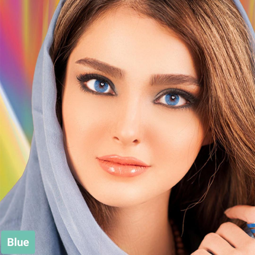 فروش لنز Blue (آبی)  برند فرشلوک بهمراه قیمت امروز لنز رنگی و قیمت امروز لنز طبی