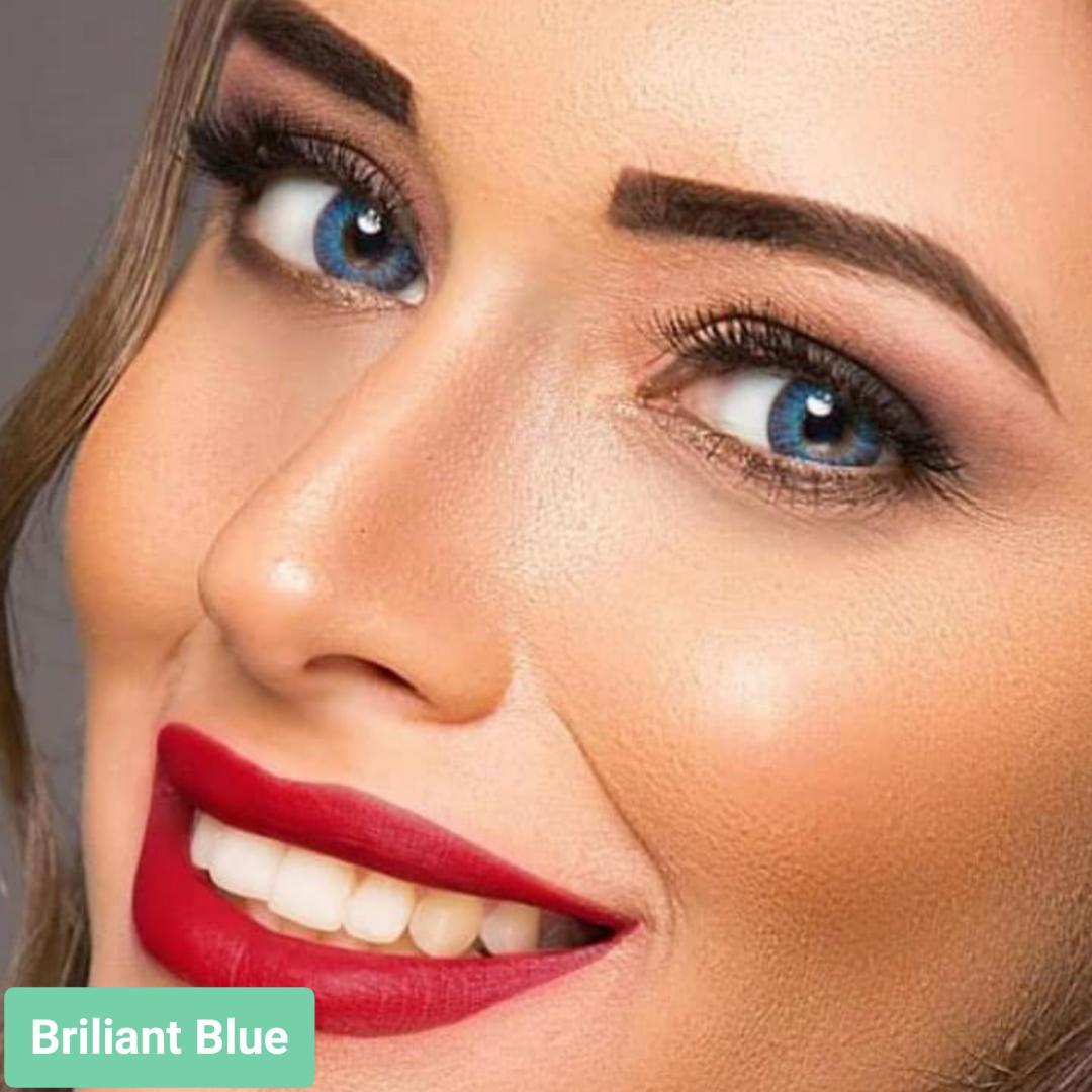 فروش لنز Briliant Blue (آبی برلیانی)  برند فرشلوک بهمراه قیمت امروز لنز رنگی و قیمت امروز لنز طبی