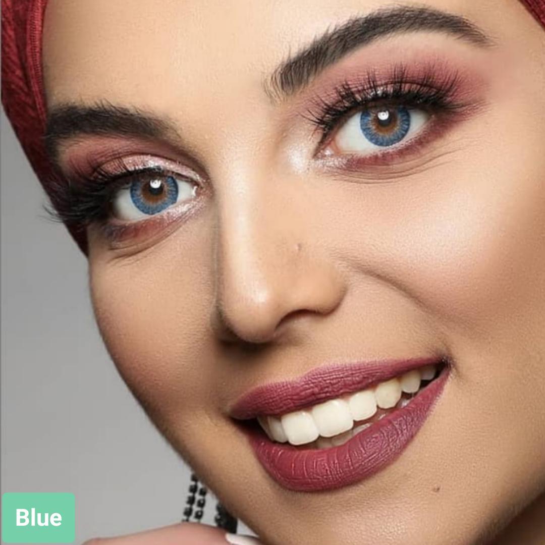 فروش لنز Blue (آبی عسلی)  برند فرشلوک بهمراه قیمت امروز لنز رنگی و قیمت امروز لنز طبی