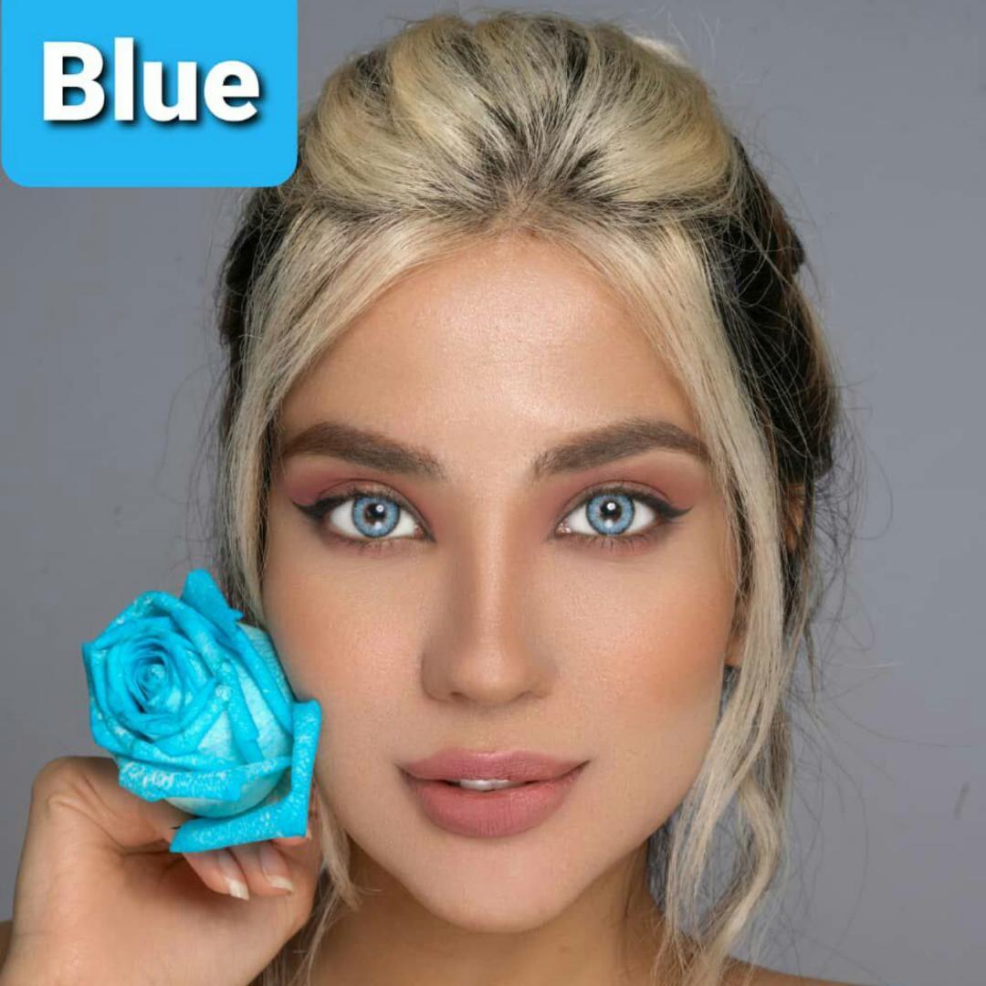 فروش لنز Blue (آبی)  برند پلی ویو بهمراه قیمت امروز لنز رنگی و قیمت امروز لنز طبی