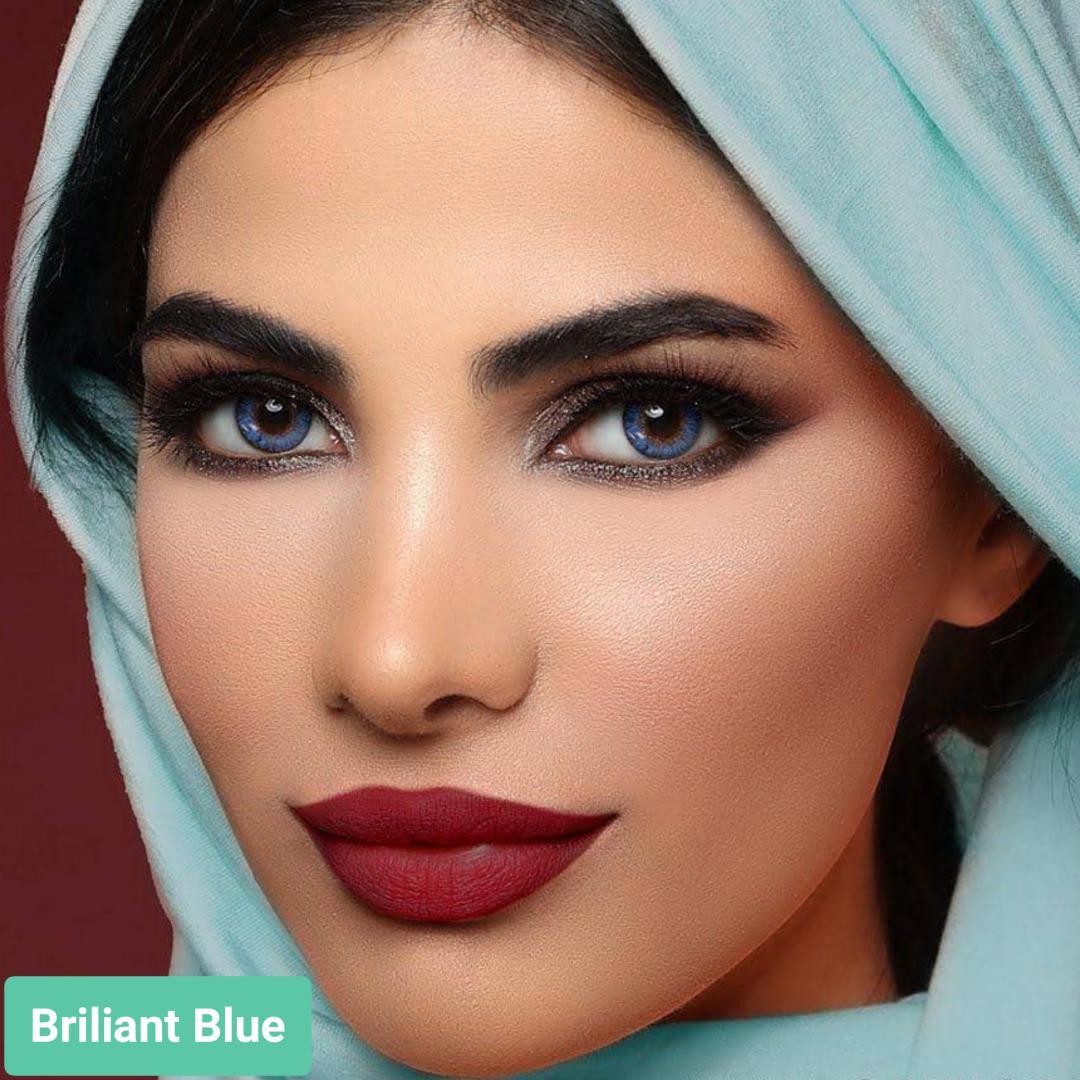 فروش لنز Briliant Blue (آبی برلیانی)  برند ایراپتیکس رنگی  بهمراه قیمت امروز لنز رنگی و قیمت امروز لنز طبی