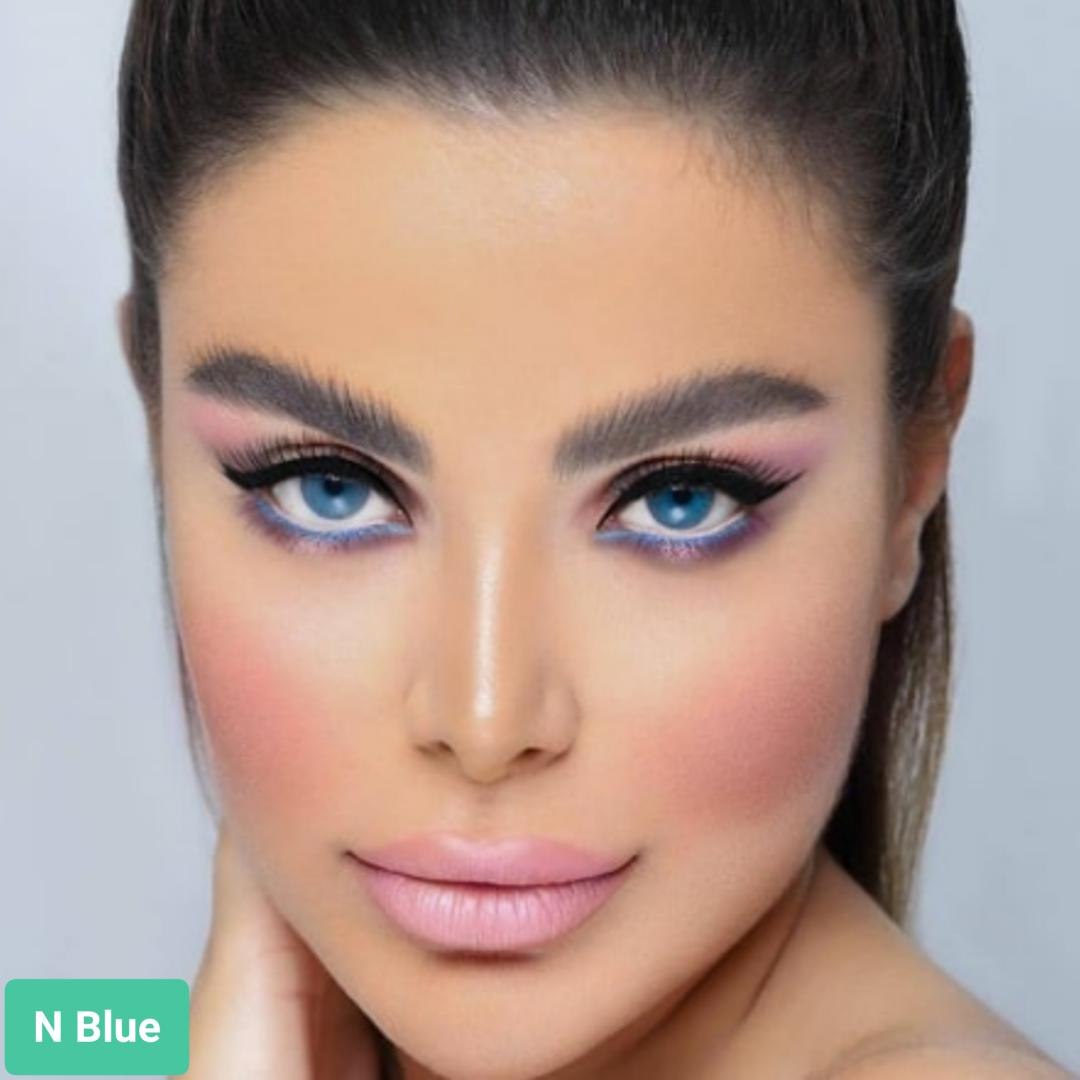 فروش لنزN Blue  (آبی نفتی دورمحو)برند اوربان لایر بهمراه قیمت امروز لنز رنگی و قیمت امروز لنز طبی