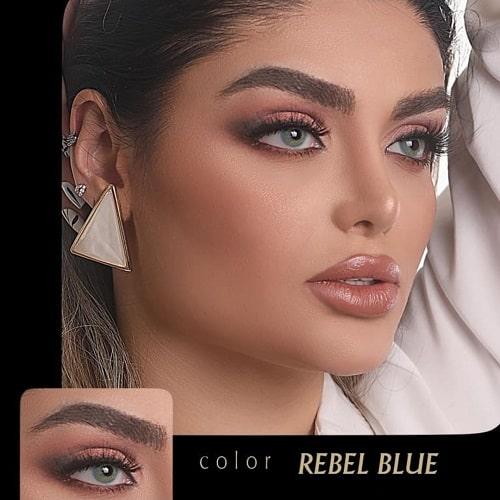 Rebel Blue(آبی عروسکی بدون دور) برند آیسکالر به همراه قیمت امروز لنز طبی و قیمت امروز لنز رنگی