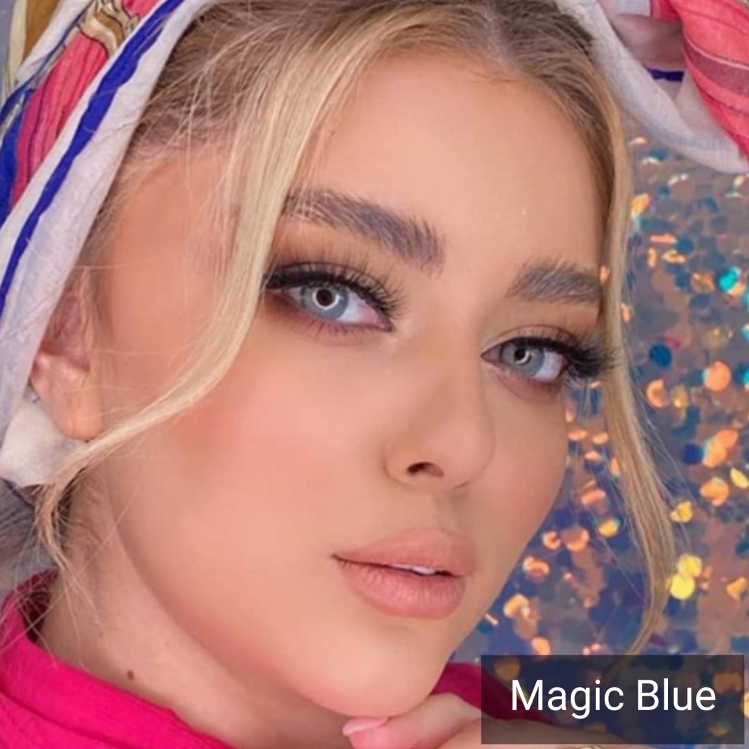 فروش لنزMagic Blue (آبی دوردار) برند دیاموند بهمراه قیمت امروز لنز رنگی و قیمت امروز لنز طبی