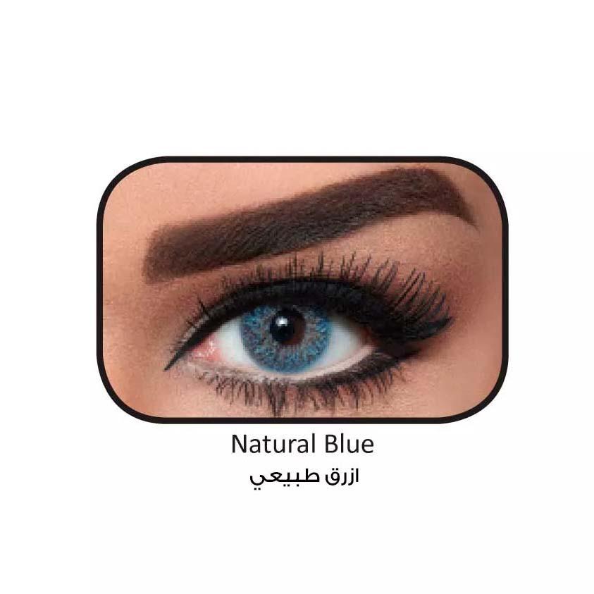 فروش لنزNatural Blue (آبی عسلی) برند بلا  بهمراه قیمت امروز لنز رنگی  و قیمت امروز لنز طبی