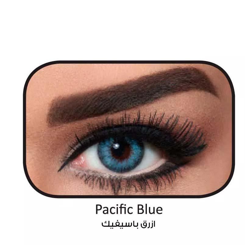 فروش لنزPacific Blue (آبی عسلی دوردار) برند بلا  بهمراه قیمت امروز لنز رنگی  و قیمت امروز لنز طبی