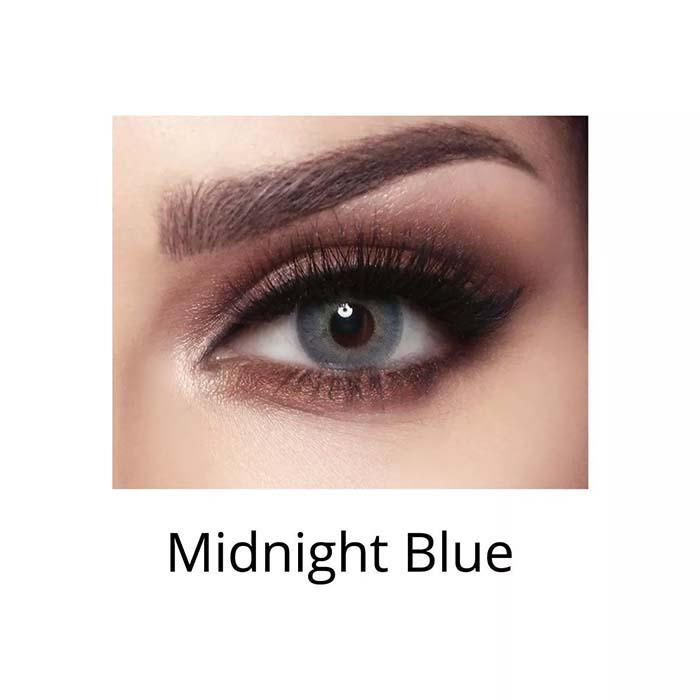 فروش لنزMidnight Blue (آبی عسلی) برند بلا  بهمراه قیمت امروز لنز رنگی  و قیمت امروز لنز طبی