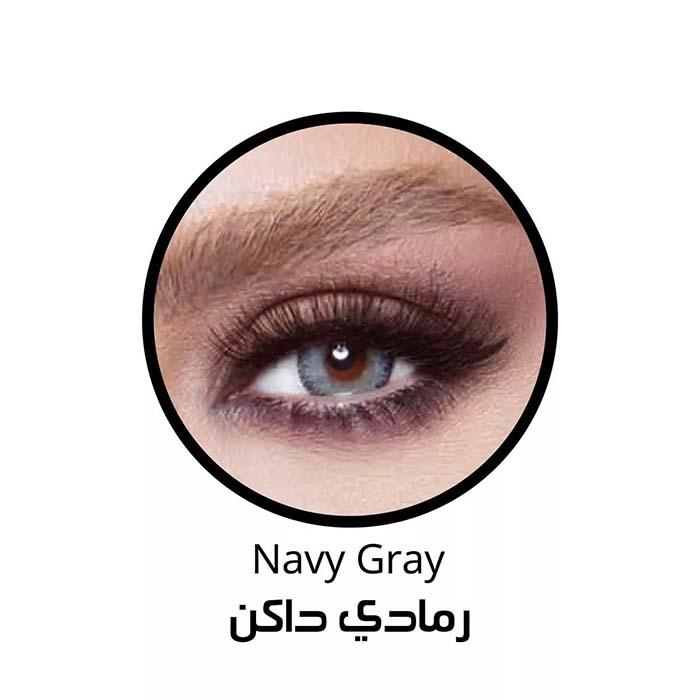 فروش لنزNavy Gray (آبی طوسی وسط عسلی) برند بلا  بهمراه قیمت امروز لنز رنگی  و قیمت امروز لنز طبی