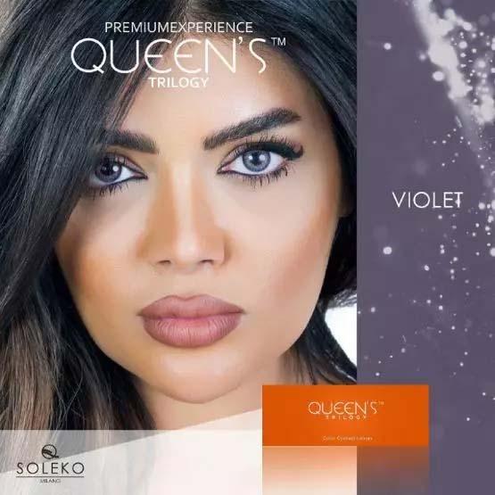 فروش لنز Violet (بنفش)  برند سولکو رنگی بهمراه قیمت امروز لنز رنگی و قیمت امروز لنز طبی