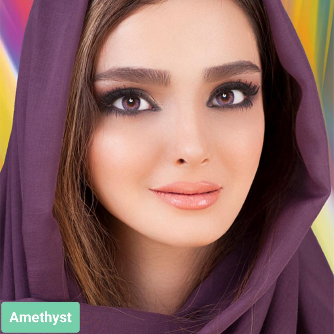 فروش لنز Amethyst (بنفش)  برند فرشلوک بهمراه قیمت امروز لنز رنگی و قیمت امروز لنز طبی