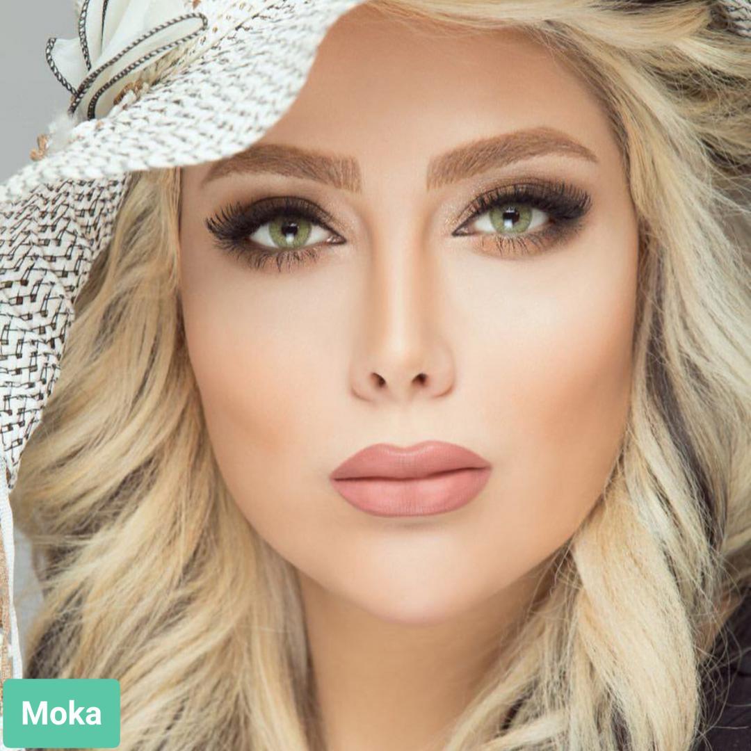 فروش لنز Moka (سبز عسلی دورمحو) برند استلاکالرز بهمراه قیمت امروز لنز رنگی  و قیمت امروز لنز طبی