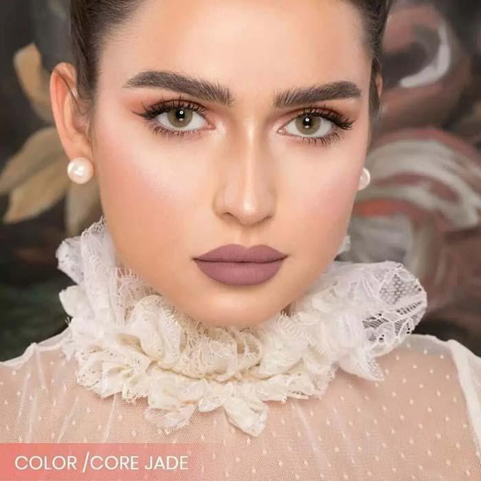 فروش لنز Core Jade (عسلی سبز بدون دور)  برند نچرال بهمراه قیمت امروز لنز رنگی  و قیمت امروز لنز طبی