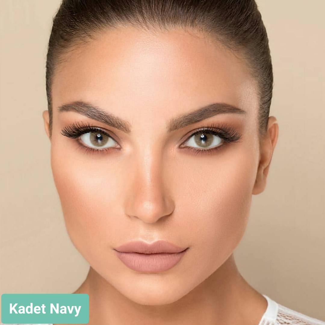فروش لنز Kadet Navy (زیتونی بدون دور)  برند لورنس  بهمراه قیمت امروز لنز رنگی  و قیمت امروز لنز طبی