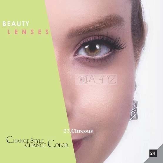 فروش لنز Citreous (سبز عسلی بدون دور)  برند رویال ویژن بهمراه قیمت امروز لنز رنگی و قیمت امروز لنز طبی