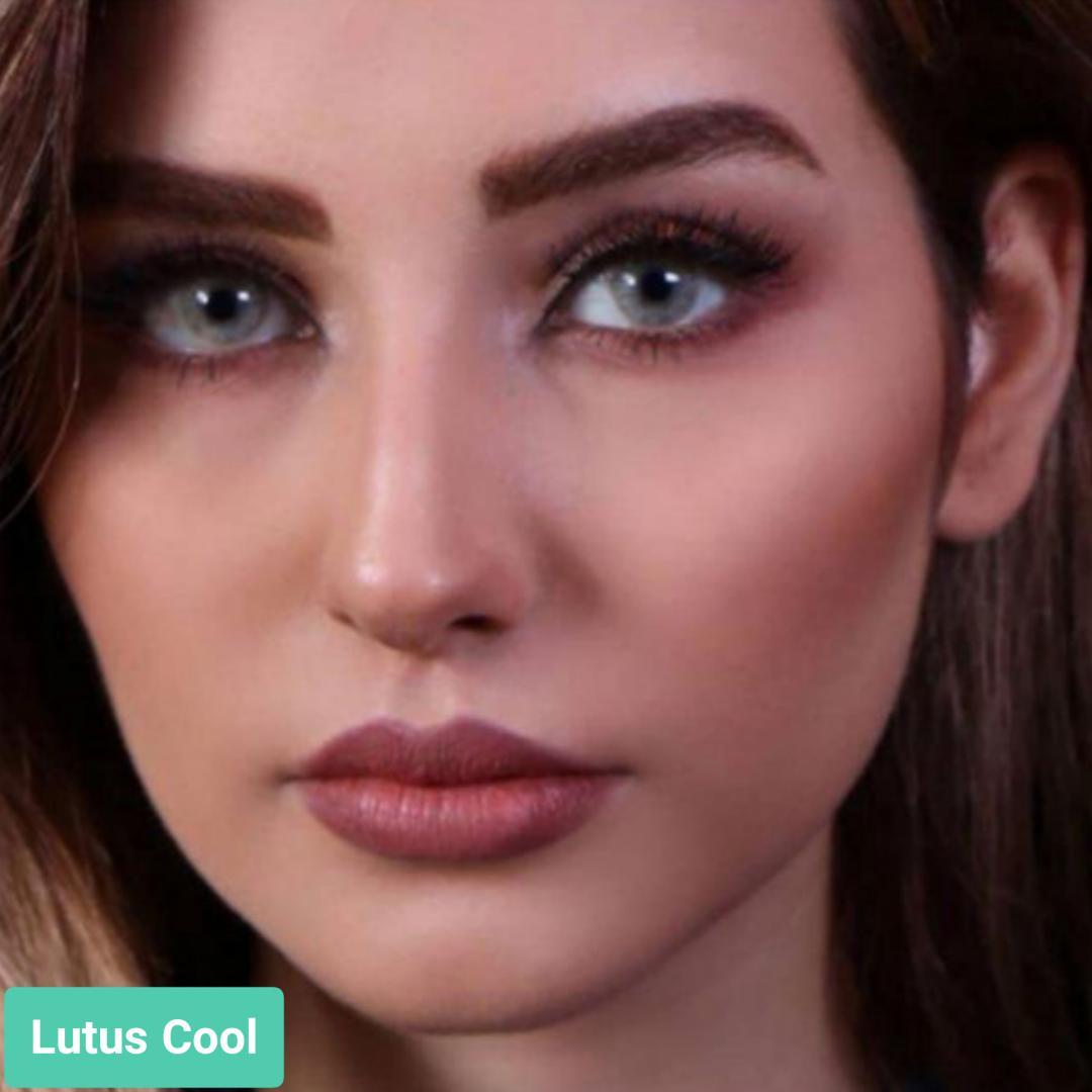 فروش لنز Lutus Cool (عسلی سبز یخی بدون دور)  برند جمستون لاکچری  بهمراه قیمت امروز لنز رنگی و قیمت امروز لنز طبی