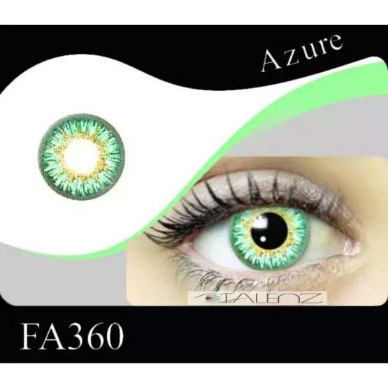فروش FA 360 (فیروزه ای عسلی دوردار)   بهمراه قیمت امروز لنز طبی و قیمت امروز لنز رنگی