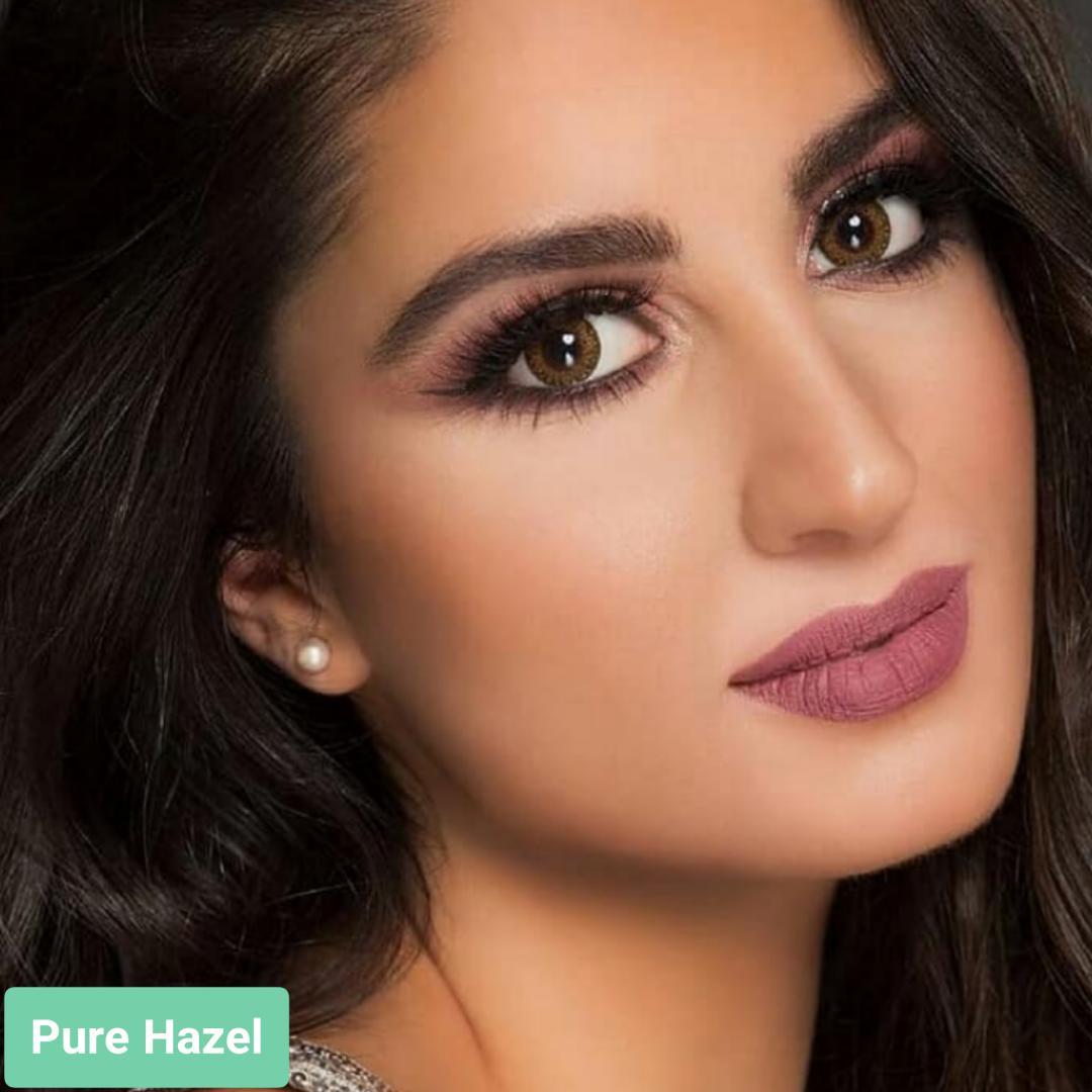 فروش لنز Purehazel (زیتونی)  برند فرشلوک بهمراه قیمت امروز لنز رنگی و قیمت امروز لنز طبی