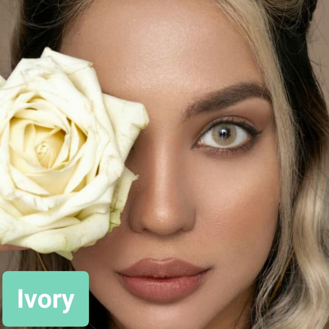 فروش لنز Ivory (زیتونی)  برند پلی ویو بهمراه قیمت امروز لنز رنگی و قیمت امروز لنز طبی