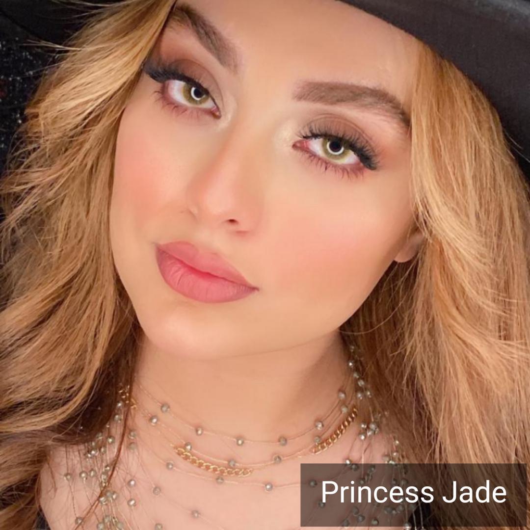 Princes Jeed (زیتونی بدون دور)) برند دیاموند بهمراه قیمت امروز لنز رنگی و قیمت امروز لنز طبی