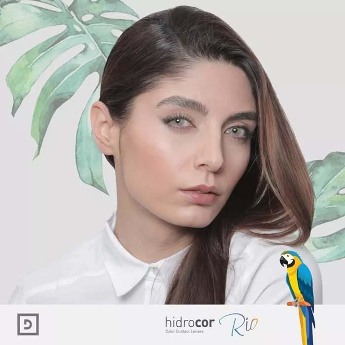 فروش لنزIpanema (آبی سبز عسلی)  برند شیخ بهمراه قیمت امروز لنز رنگی  و قیمت امروز لنز طبی