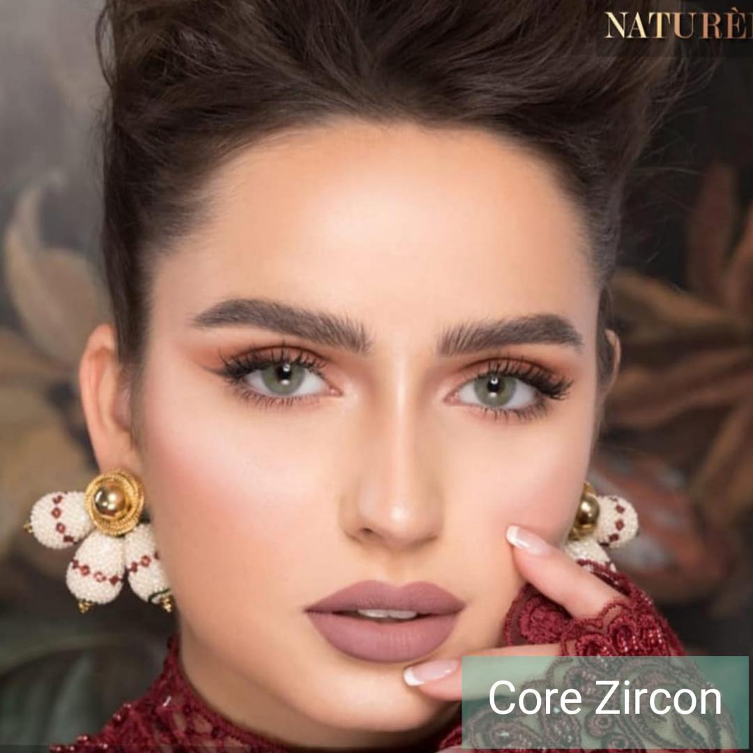 فروش لنز Core Zircon  (آبی طوسی بودن دور)  برند نچرال بهمراه قیمت امروز لنز رنگی  و قیمت امروز لنز طبی